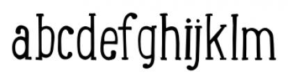 LunchBox Slab Light Font LOWERCASE