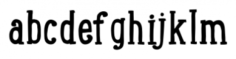 LunchBox Slab Regular Font LOWERCASE