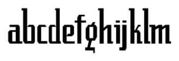 Luncheonette Regular Font LOWERCASE