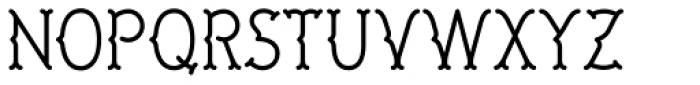 LU LU Regular Font LOWERCASE