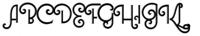 Lubaline Shine Font UPPERCASE