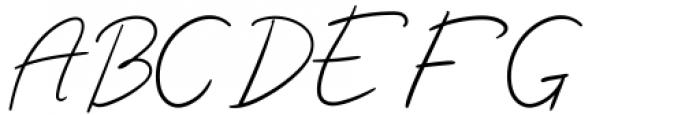 Luciana Regular Font UPPERCASE