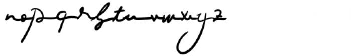 Luciana Regular Font LOWERCASE