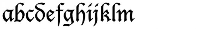 Lucida Blackletter EF Font LOWERCASE