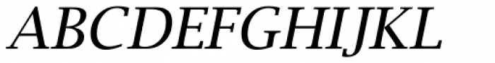 Lucida Bright Italic Font UPPERCASE