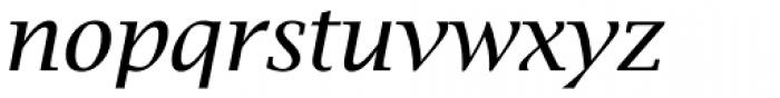 Lucida Bright Italic Font LOWERCASE