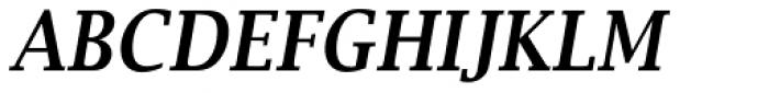 Lucida Bright Narrow Demi Bold Italic Font UPPERCASE