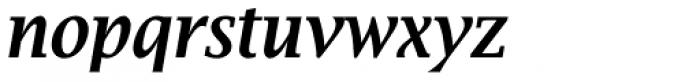 Lucida Bright Narrow Demi Bold Italic Font LOWERCASE