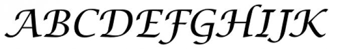 Lucida Cal T Italic Font UPPERCASE