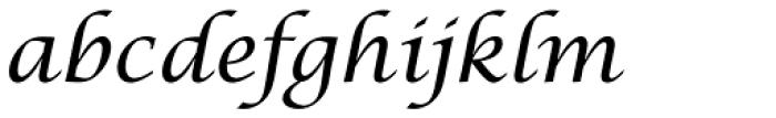 Lucida Cal T Italic Font LOWERCASE