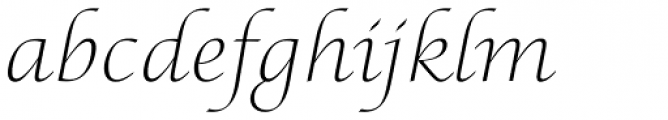 Lucida Calligraphy Std Thin Font LOWERCASE