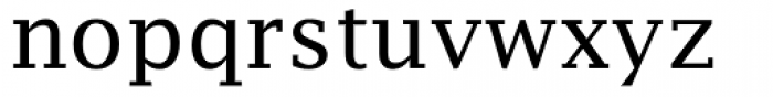 Lucida Fax Font LOWERCASE