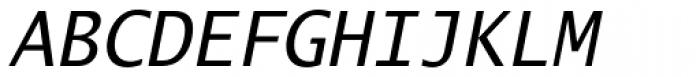 Lucida Mono EF Italic Font UPPERCASE