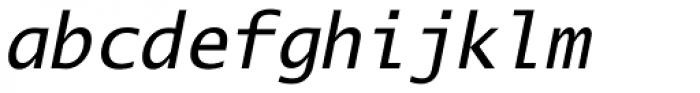 Lucida Mono EF Italic Font LOWERCASE