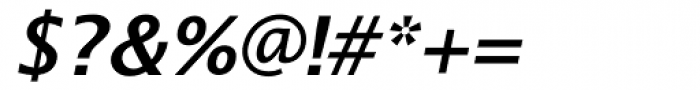 Lucida Sans Demibold Italic Font OTHER CHARS