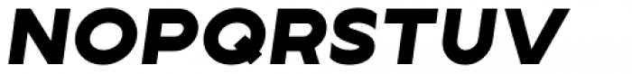 Lucifer Sans Expanded Black Italic Font UPPERCASE