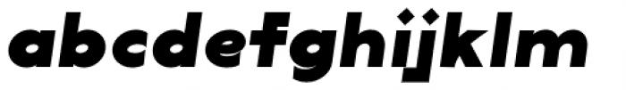 Lucifer Sans Expanded Black Italic Font LOWERCASE