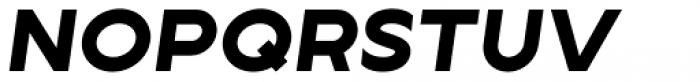 Lucifer Sans Expanded ExtraBold Italic Font UPPERCASE