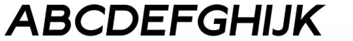 Lucifer Sans Expanded SemiBold Italic Font UPPERCASE