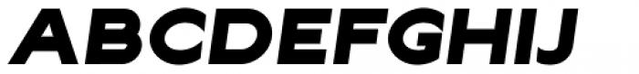 Lucifer Sans ExtraExpanded Black Italic Font UPPERCASE