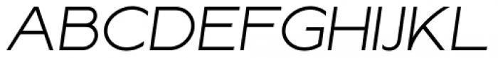 Lucifer Sans ExtraExpanded ExtraLight Italic Font UPPERCASE