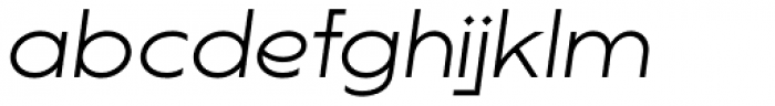 Lucifer Sans ExtraExpanded ExtraLight Italic Font LOWERCASE
