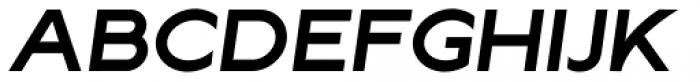 Lucifer Sans ExtraExpanded SemiBold Italic Font UPPERCASE