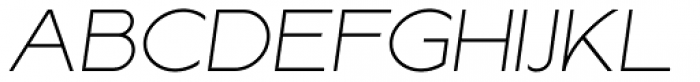 Lucifer Sans ExtraExpanded Thin Italic Font UPPERCASE