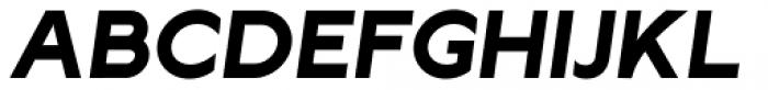 Lucifer Sans SemiExpanded Bold Italic Font UPPERCASE