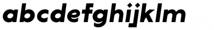 Lucifer Sans SemiExpanded Bold Italic Font LOWERCASE