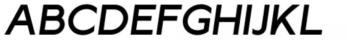 Lucifer Sans SemiExpanded Medium Italic Font UPPERCASE
