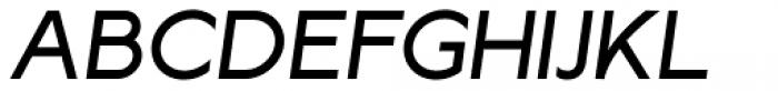 Lucifer Sans SemiExpanded Regular Italic Font UPPERCASE