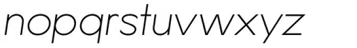 Lucifer Sans SemiExpanded Thin Italic Font LOWERCASE