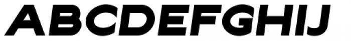 Lucifer Sans Wide Black Italic Font UPPERCASE