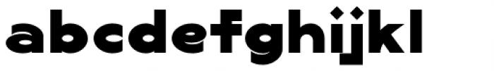 Lucifer Sans Wide Black Font LOWERCASE