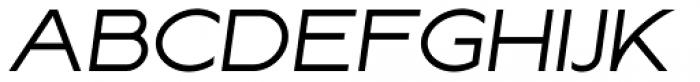 Lucifer Sans Wide Light Italic Font UPPERCASE