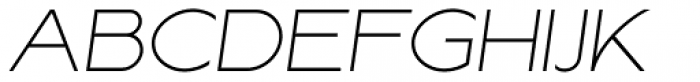 Lucifer Sans Wide Thin Italic Font UPPERCASE