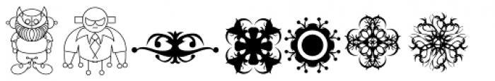 Lucrecia Dingbats Font LOWERCASE