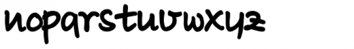 Luedickital D ExtraBold Font LOWERCASE