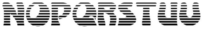 Lugano Alternate Striped Font UPPERCASE