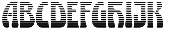 Lugano Striped Font UPPERCASE