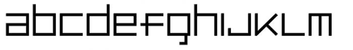 Luggage Light Font LOWERCASE