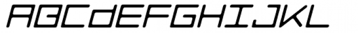 Luggage Round Light Oblique Font UPPERCASE