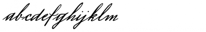 Luitpold Handwriting Font LOWERCASE