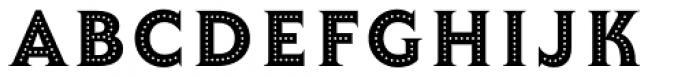 Lumiere Thirteen Font UPPERCASE