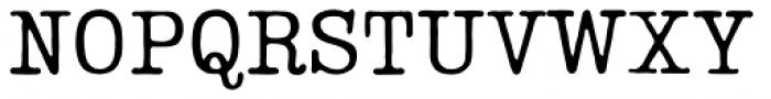 Lumios Typewriter Used Font UPPERCASE