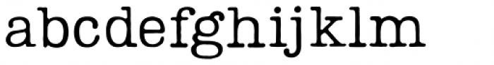 Lumios Typewriter Used Font LOWERCASE
