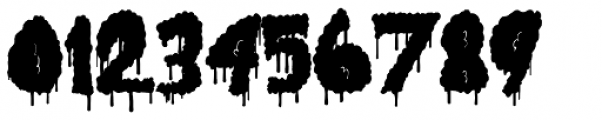 Lumps Drip Bold Font OTHER CHARS