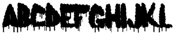 Lumps Drip Bold Font LOWERCASE