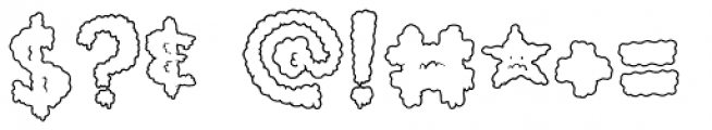 Lumps Outline Font OTHER CHARS